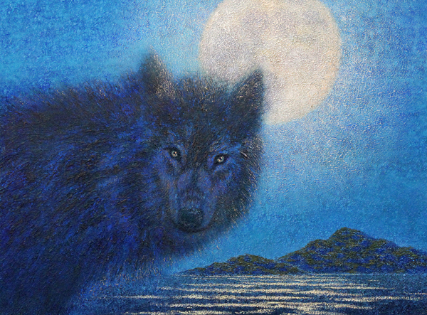Black Wolf, Limited Edition Giclée Print